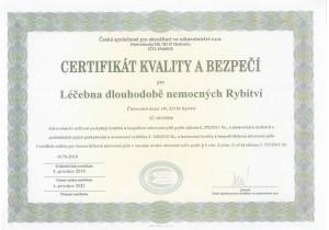 Certidikát kvality a bezpečí